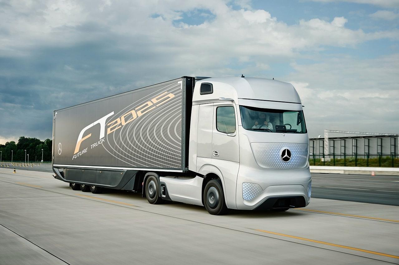 طراحی هوشمندانه کامیون مفهومی مرسدس بنز Future Truck 2025