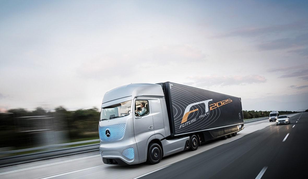 نگاهی به کامیون مفهومی مرسدس بنز Future Truck 2025